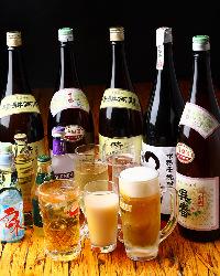 プレミアム飲み放題は一番搾り、角ハイ、晴耕雨読、呉春までOK!
