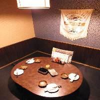 【6名様迄】少人数個室。円形テーブルでゆったり楽しいお時間を