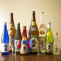 地元神戸の地酒を約8~10種取り揃えております。肉料理と共に。