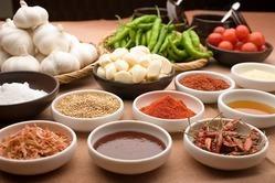 韓国料理に「和」を取り 入れております。