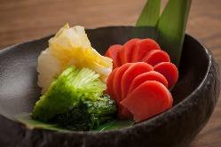京野菜を中心としたお漬物