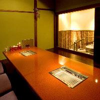 自慢の個室空間でゆったりと優雅なお時間をお過ごし下さい。