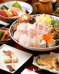 人気です!本くえ鍋フルコース ¥15000(税抜)