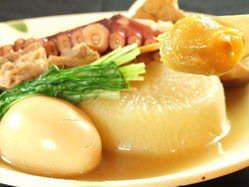 名物!関西風おでん 特製味噌・柚子胡椒・辛子で◎