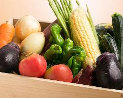 《野菜》 滋賀の豊かな自然で育った瑞々しい野菜もたっぷり