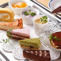 レディースディナーはデザートを5種以上からチョイス!全部もOK