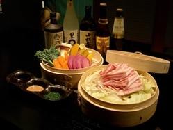 【平日限定】もち豚のセイロ蒸しコース飲み放題付き3500円