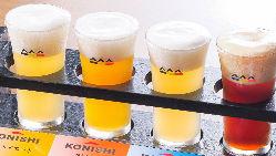 KONISHIビールやドイツビールも楽しめる飲み放題メニュー!