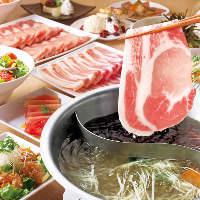 和豚もちぶたしゃぶしゃぶ食べ放題コース 3,280円(税別)