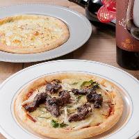 ピザをはじめ、チーズ料理をたくさんご用意!ワインと合わせて。