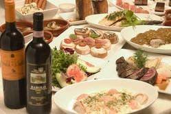 イタリアン・スペインの御料理とソムリエのオーナー厳選のワイン