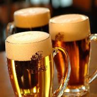 乾杯の生ビールはエビスビールで♪