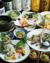 コース料理は3200円~各種ご用意しております。飲み放題も有