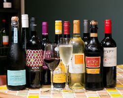 コース+500円で、ワイン30種飲み放題に!