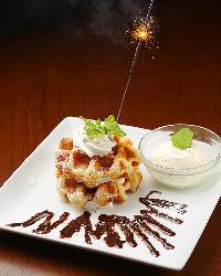〈記念日・誕生日〉 メッセージ付デザートでサプライズ!
