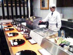 カウンターでお好み天ぷら