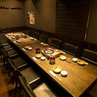 落ち着いた大人の雰囲気 14名様テーブル個室