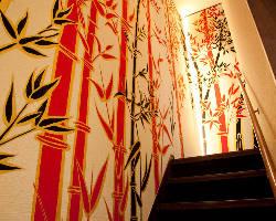 木村英樹氏のデザイン。 特別な空間を演出しています。