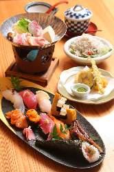 土日祝限定!お寿司のランチコース☆新鮮なネタと職人技に注目