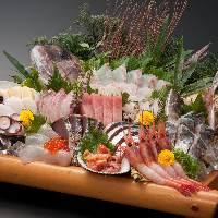 新鮮な海の幸をふんだんに使用した刺盛もご用意。写真はイメージ