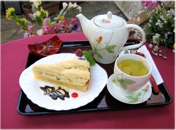 大福茶とケーキセット