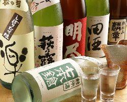 【日本酒飲み放題】 地酒も勿論、他県のお酒も楽しめます!