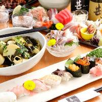 新鮮鮮魚を使用したコースは大人気!