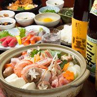 寄せ鍋コーススタート! 海鮮・肉・野菜たっぷり