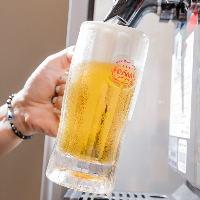 生ビールはオリオンビールがおすすめ!キンキンに冷えています