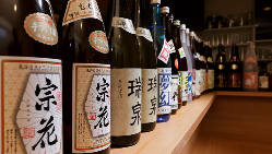 滋賀県の地酒が豊富!常時10種類程、取り揃えております♪