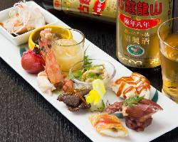 季節により替わる彩り鮮やかな中華前菜と美味しいお酒をどうぞ!