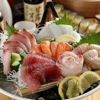 日本海・山陰を中心に仕入れる 旬の魚介の刺身盛り