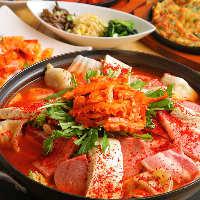 選べる4大鍋コース!プルコギ、 プデチゲ、ソウル鍋、海鮮鍋