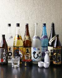 焼鳥と相性が良い日本酒や焼酎が豊富に揃っています
