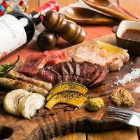 ジューシーなお肉を満喫! 肉盛りコースがお店のイチオシです