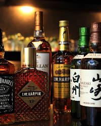 50種類以上のお酒が飲み放題でボトルキープで更にお得に♪