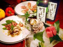 1つ1つに手間をかけた和洋創作料理 囲炉里焼など旬の味覚満載。
