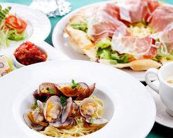 2人で楽しむ人気のパスタ&ピッツァのAペアコース ¥5000