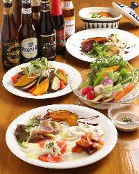 神戸市西区のユリ農園の有機野菜をメインに使用しています