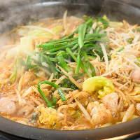 野菜の水分だけで焼くので濃厚に!もつの香ばしい風味も絶品♪