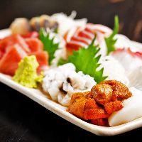 【鮮魚が自慢】 毎日市場から直送で仕入れる鮮魚をお造りで!