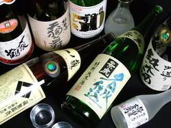 日本酒も多彩なラインナップ!