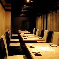 〈22名様までテーブル個室〉人数に合わせてレイアウト変更可能