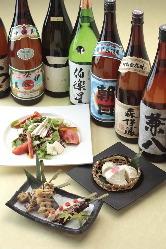焼酎・日本酒をはじめお酒も豊富にご用意しております!