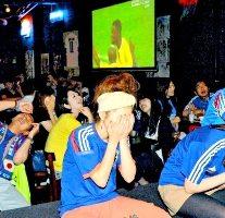 W杯時には200名以上のサポーターが集結!!頑張れ日本♪