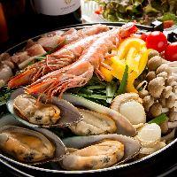 1番人気の海鮮アラビアータ鍋!