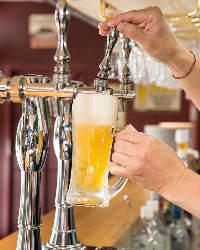 いつでも生ビール280円(税抜)!グラスワインも340円(税抜)~