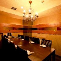 10名様のVIP個室は、お早目のご予約がおすすめ!