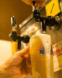 焼肉宴会に欠かせないビールでまずは乾杯♪