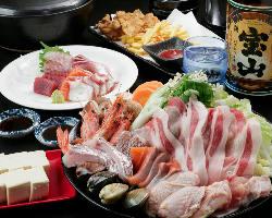 年中やってます!『鍋』豚生姜鍋とタンしゃぶ、ホルモン鍋
